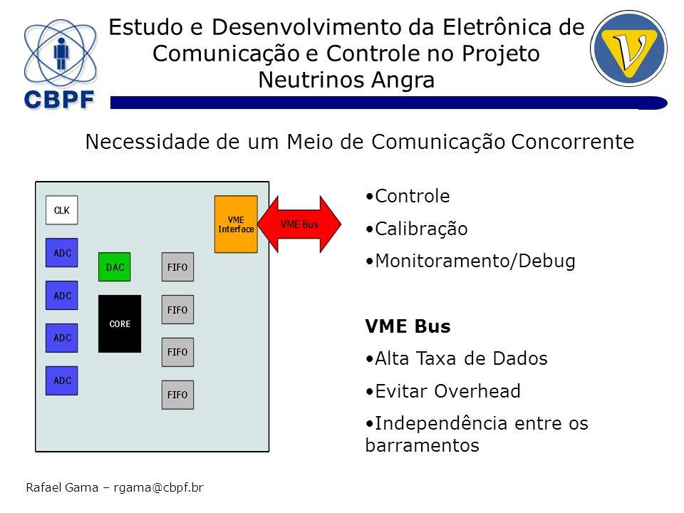 Estudo e Desenvolvimento da Eletrônica de Comunicação e Controle no Projeto Neutrinos Angra Rafael Gama – rgama@cbpf.br Node 2: Kvaser Leaf HS CAN 2.0B ISO-11898 Texas SN65HVD251 5Kbits/s – 1Mbit/s USB: 12 Mbits/s Precisão do Clock: 100 s Taxa de Mensagens: 8000 Mensagens/s
