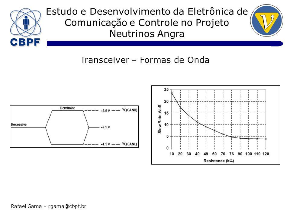 Estudo e Desenvolvimento da Eletrônica de Comunicação e Controle no Projeto Neutrinos Angra Rafael Gama – rgama@cbpf.br Transceiver – Formas de Onda