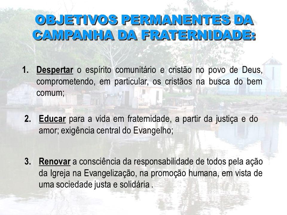 3.Renovar a consciência da responsabilidade de todos pela ação da Igreja na Evangelização, na promoção humana, em vista de uma sociedade justa e solid