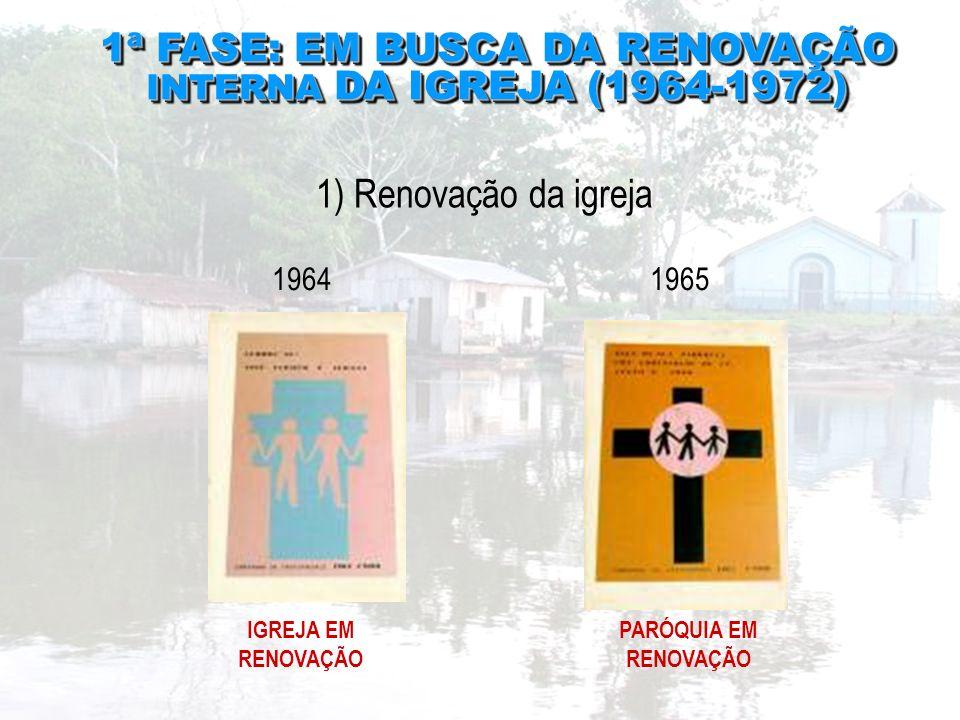 1ª FASE: EM BUSCA DA RENOVAÇÃO INTERNA DA IGREJA (1964-1972) 1ª FASE: EM BUSCA DA RENOVAÇÃO INTERNA DA IGREJA (1964-1972) 1) Renovação da igreja 19641