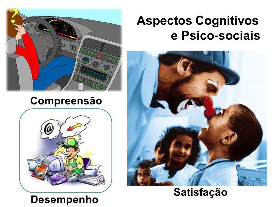 Compreensão Aspectos Cognitivos e Psico-sociais Satisfação Desempenho