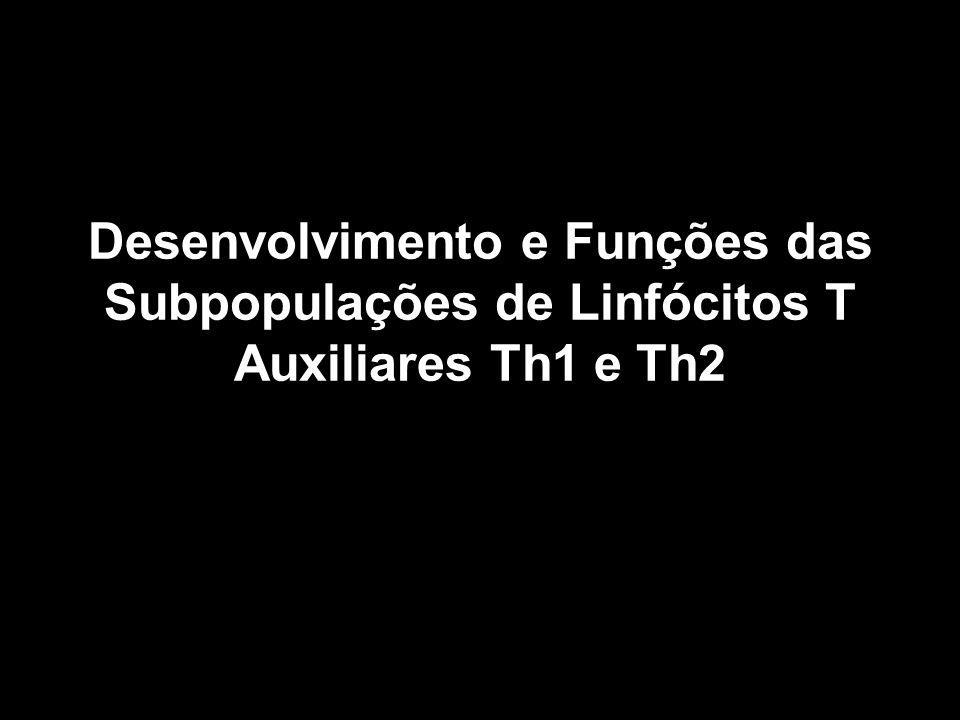 Desenvolvimento e Funções das Subpopulações de Linfócitos T Auxiliares Th1 e Th2