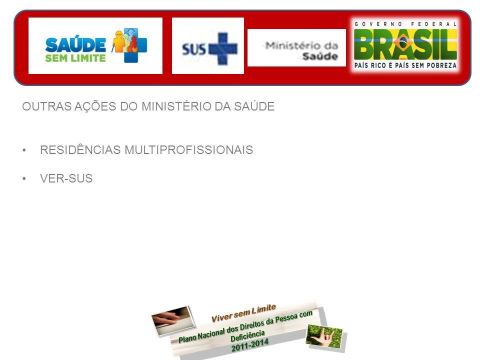 OUTRAS AÇÕES DO MINISTÉRIO DA SAÚDE RESIDÊNCIAS MULTIPROFISSIONAIS VER-SUS