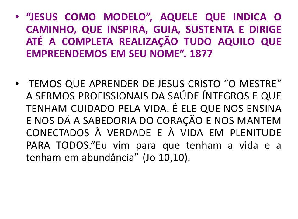 JESUS COMO MODELO, AQUELE QUE INDICA O CAMINHO, QUE INSPIRA, GUIA, SUSTENTA E DIRIGE ATÉ A COMPLETA REALIZAÇÃO TUDO AQUILO QUE EMPREENDEMOS EM SEU NOM