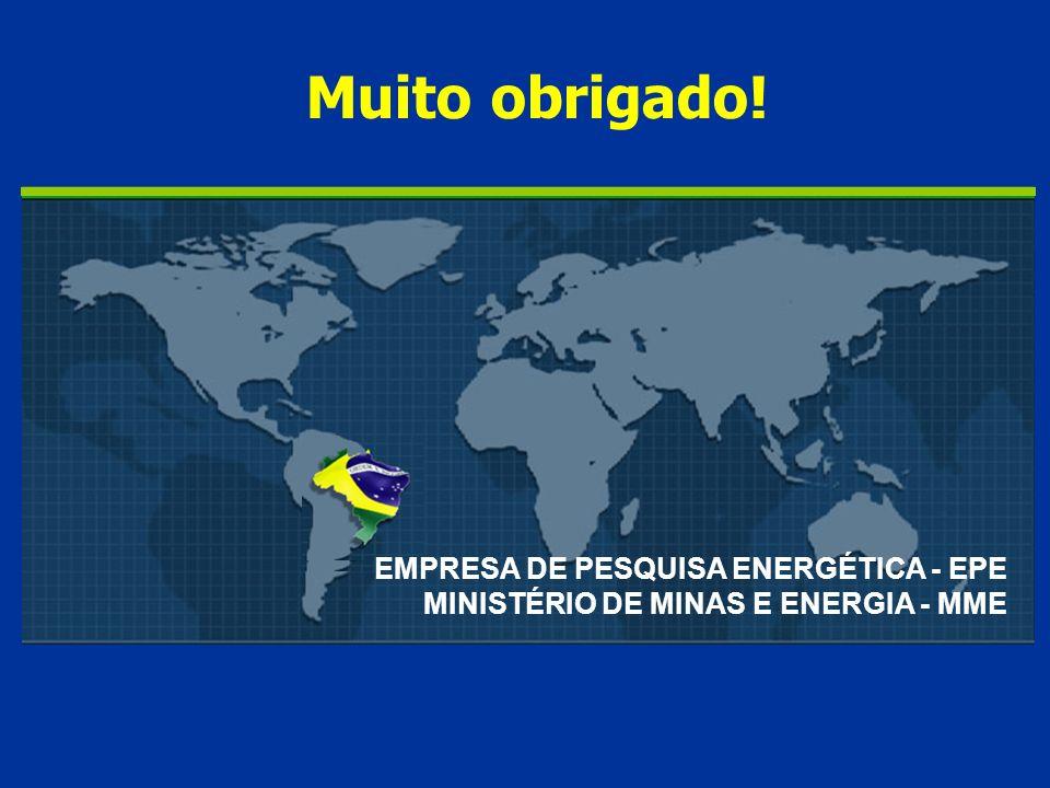 EMPRESA DE PESQUISA ENERGÉTICA - EPE MINISTÉRIO DE MINAS E ENERGIA - MME Muito obrigado!