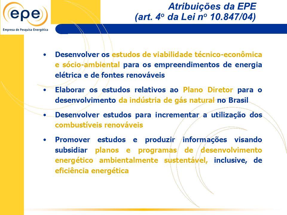 Desenvolver os estudos de viabilidade técnico-econômica e sócio-ambiental para os empreendimentos de energia elétrica e de fontes renováveis Elaborar