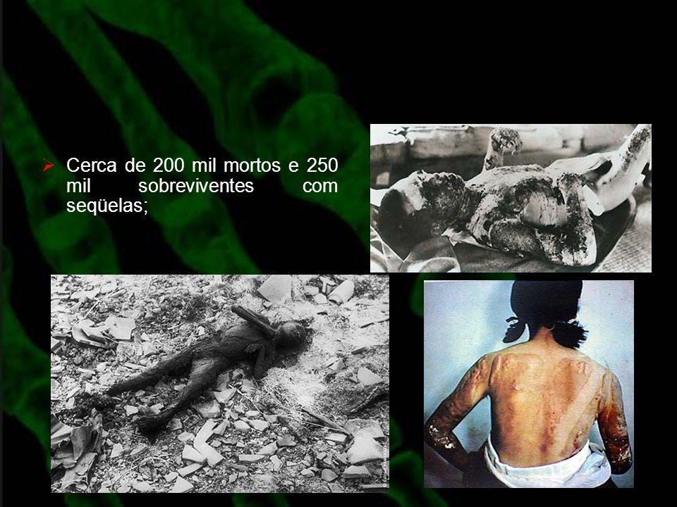 Cerca de 200 mil mortos e 250 mil sobreviventes com seqüelas;
