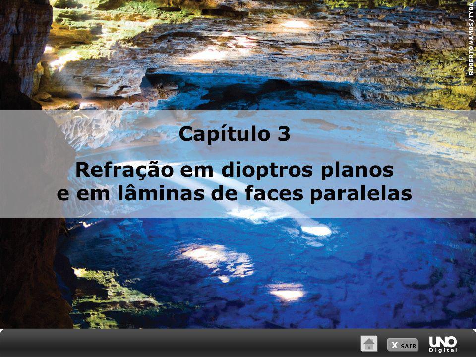 X SAIR ROBERTO VAMOS/TYBA Capítulo 3 Refração em dioptros planos e em lâminas de faces paralelas