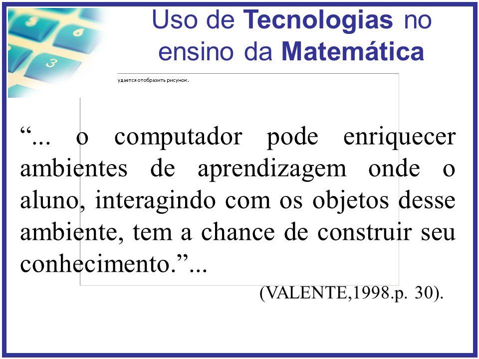 Uso de Tecnologias no ensino da Matemática...