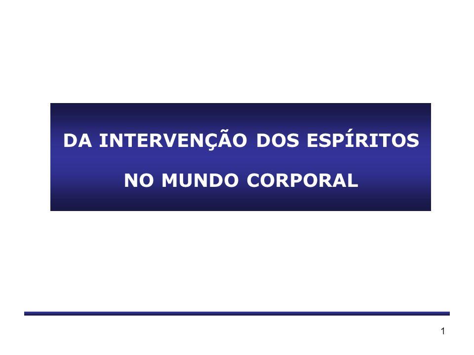 1 DA INTERVENÇÃO DOS ESPÍRITOS NO MUNDO CORPORAL