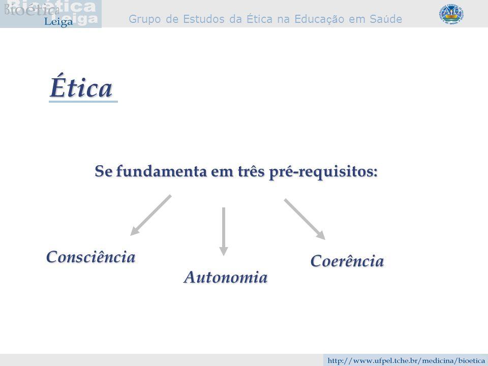 Grupo de Estudos da É tica na Educa çã o em Sa ú de A pessoa não nasce ética.