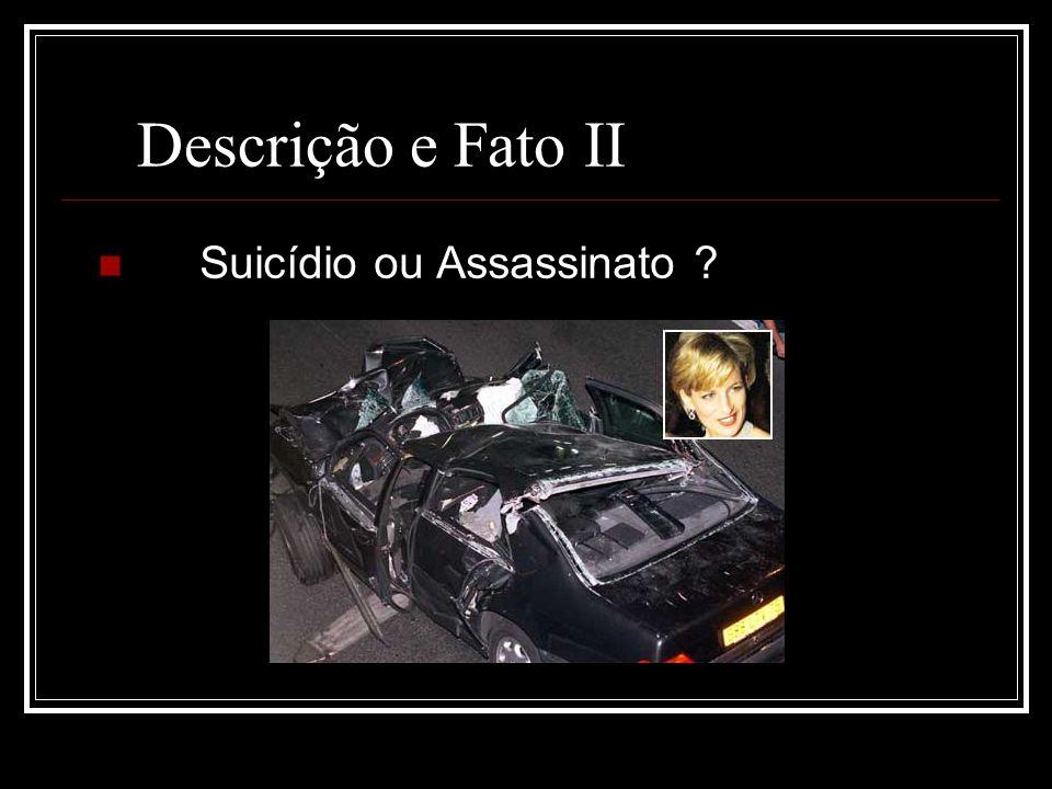 Descrição e Fato II Suicídio ou Assassinato