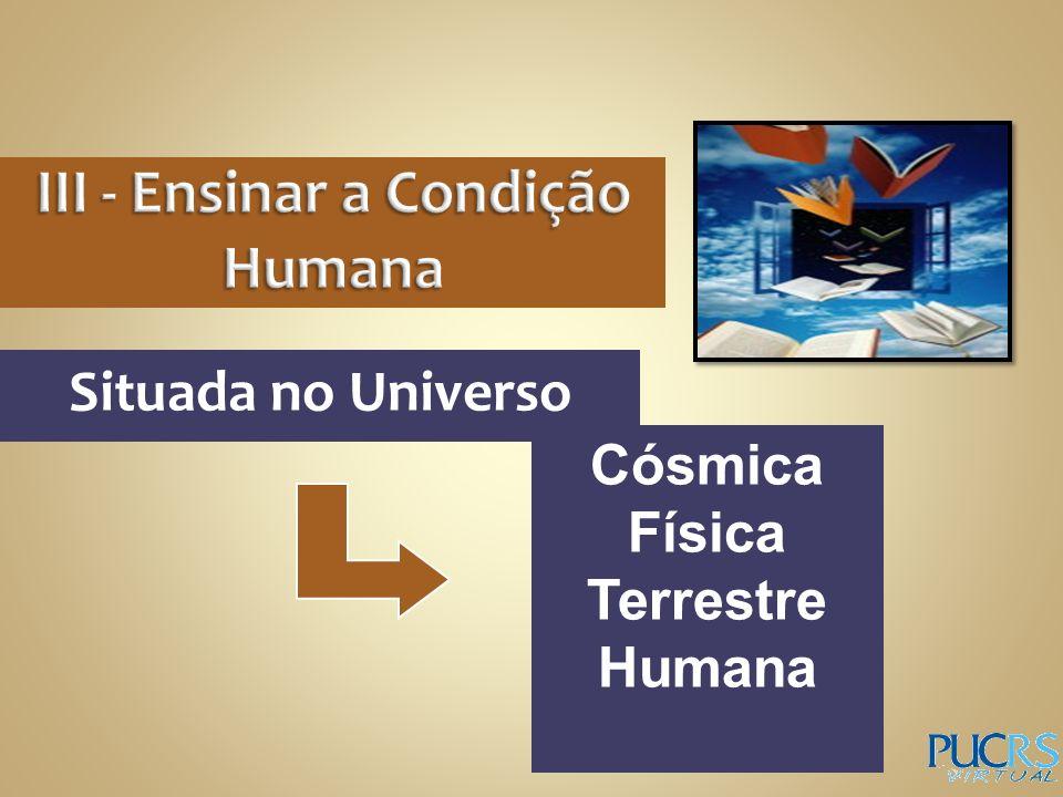 Situada no Universo Cósmica Física Terrestre Humana