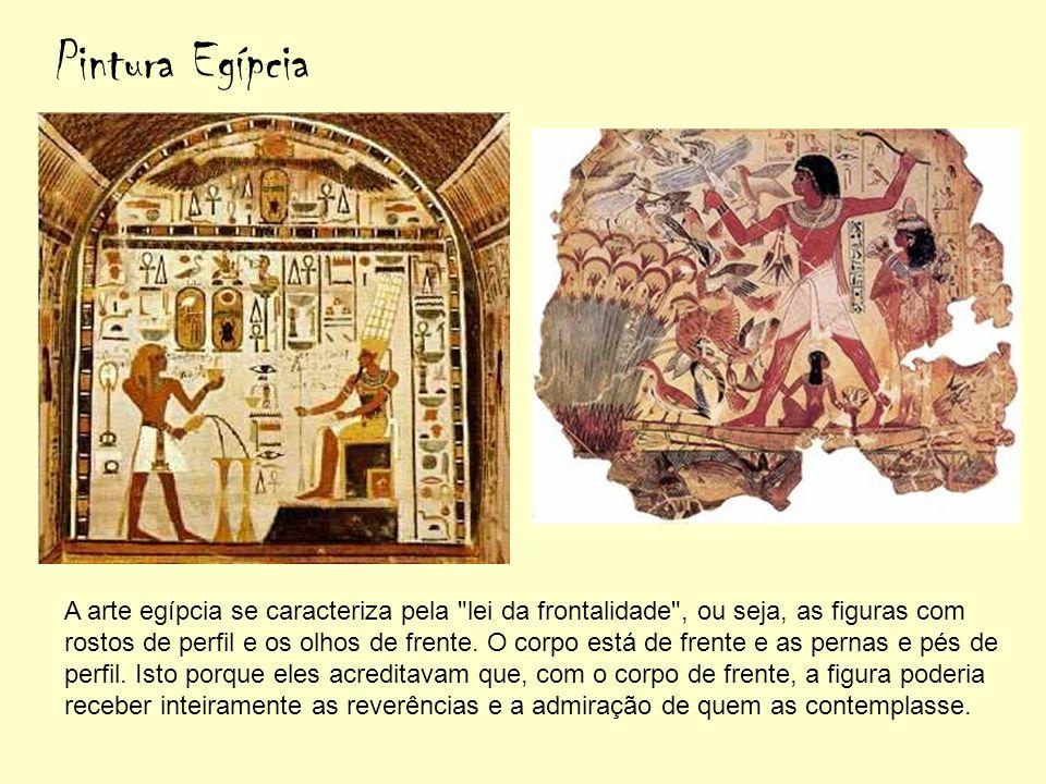 A arte egípcia se caracteriza pela