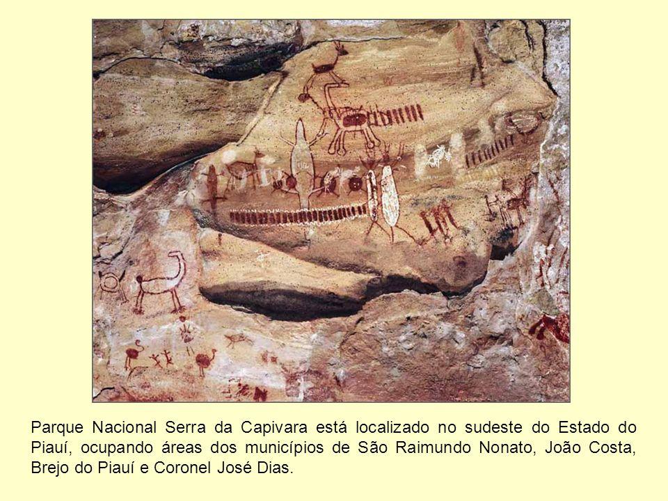Parque Nacional Serra da Capivara está localizado no sudeste do Estado do Piauí, ocupando áreas dos municípios de São Raimundo Nonato, João Costa, Bre