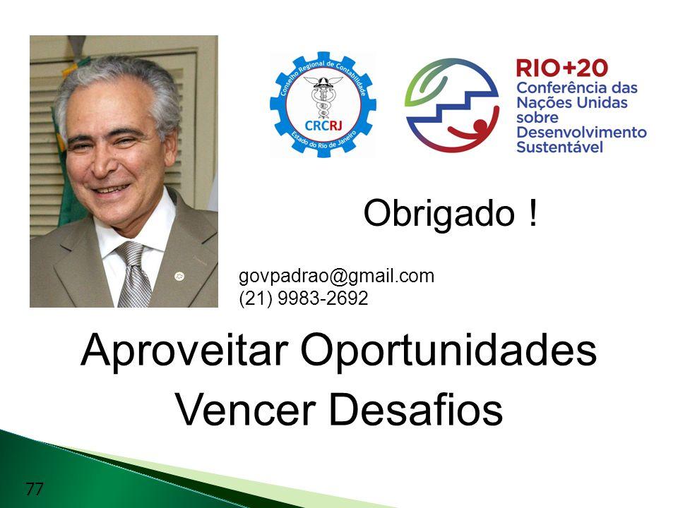 Aproveitar Oportunidades Vencer Desafios govpadrao@gmail.com (21) 9983-2692 Obrigado ! 77