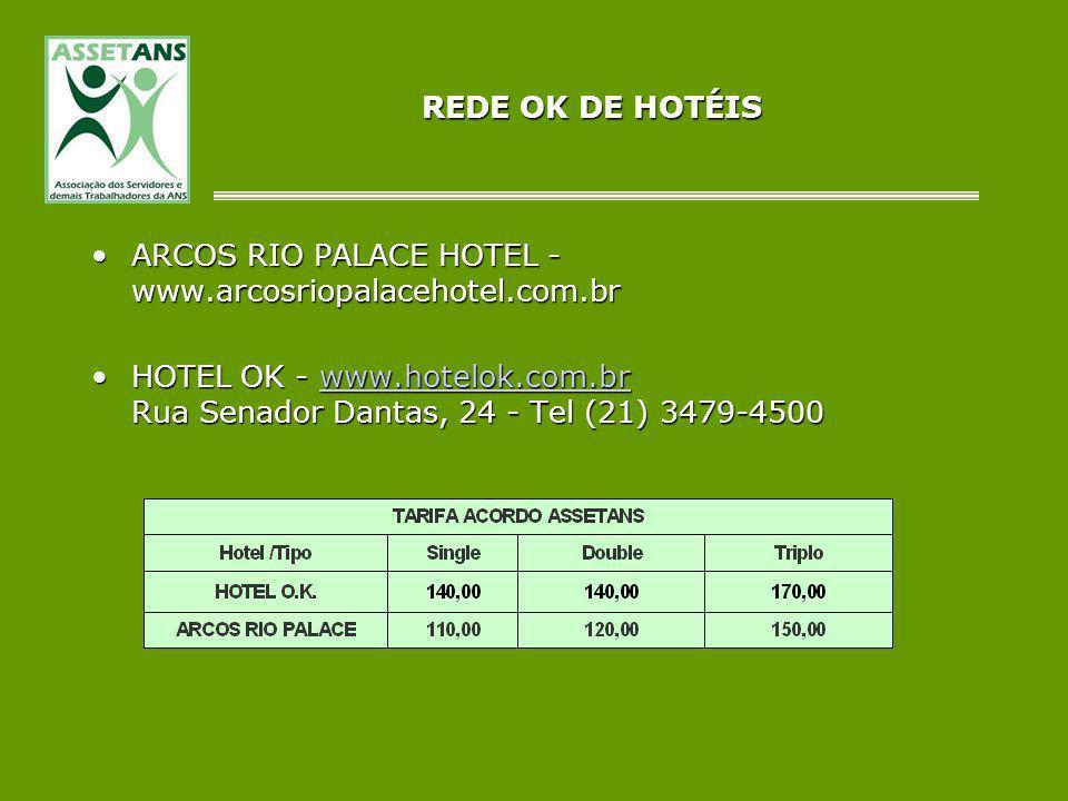 REDE OK DE HOTÉIS ARCOS RIO PALACE HOTEL - www.arcosriopalacehotel.com.brARCOS RIO PALACE HOTEL - www.arcosriopalacehotel.com.br HOTEL OK - www.hotelo