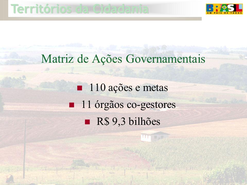 5 Matriz de Ações Governamentais 110 ações e metas 11 órgãos co-gestores R$ 9,3 bilhões