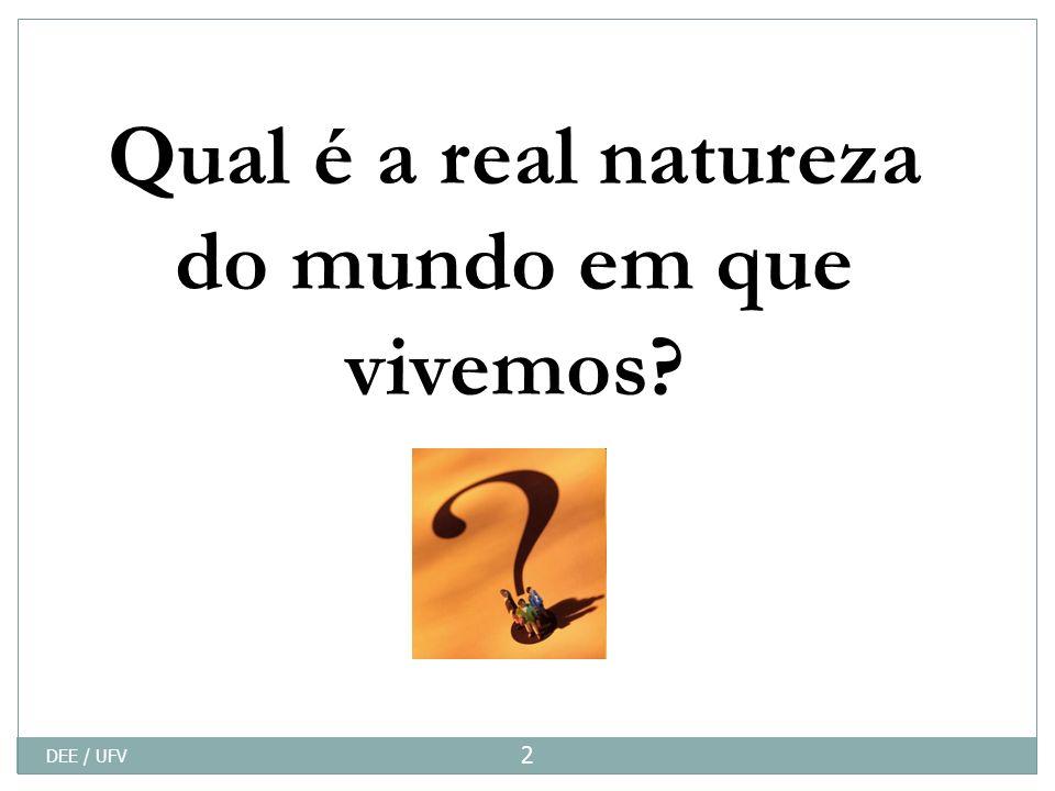 Qual é a real natureza do mundo em que vivemos? DEE / UFV 2