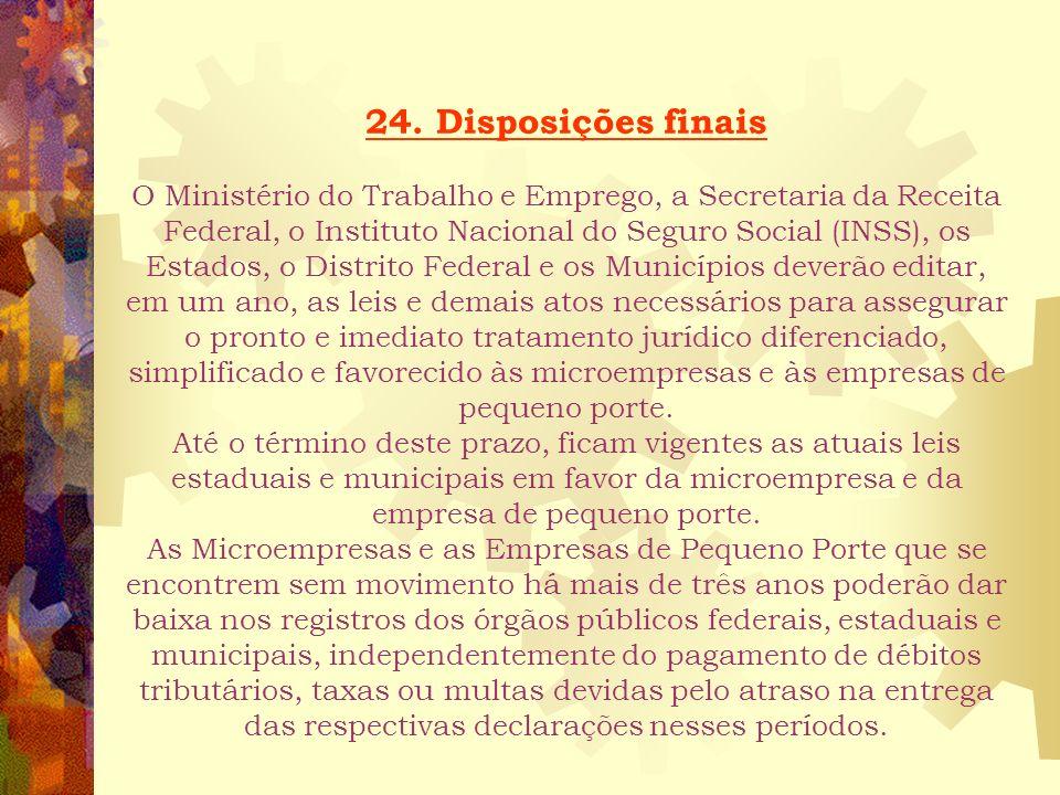 23. Do Nome Empresarial As microempresas e as empresas de pequeno porte, nos termos da legislação civil, acrescentarão à sua firma ou denominação, as