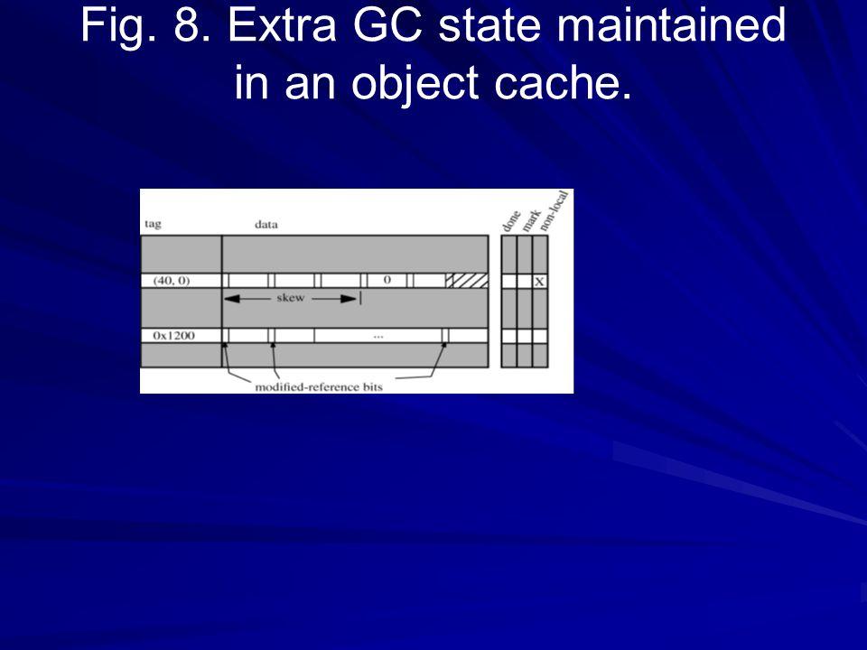 3.2. Objetos locais e a barreira do GC Um objeto é elegível para a coleção do em-cache se estiver criado dentro do limite do GC e uma referência a ela