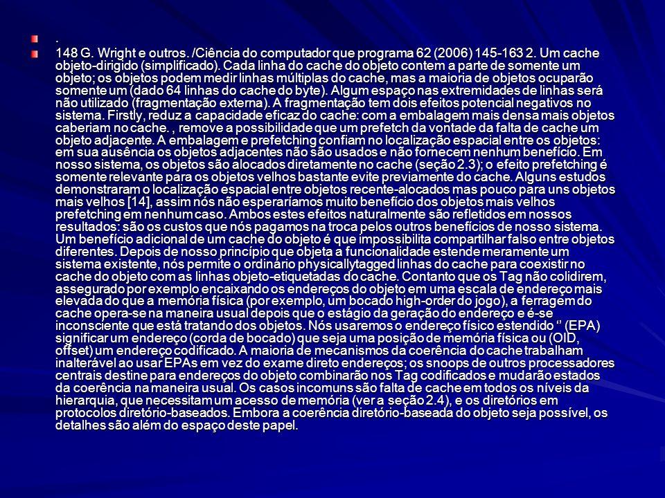 148 G.Wright e outros. /Ciência do computador que programa 62 (2006) 145-163 2.
