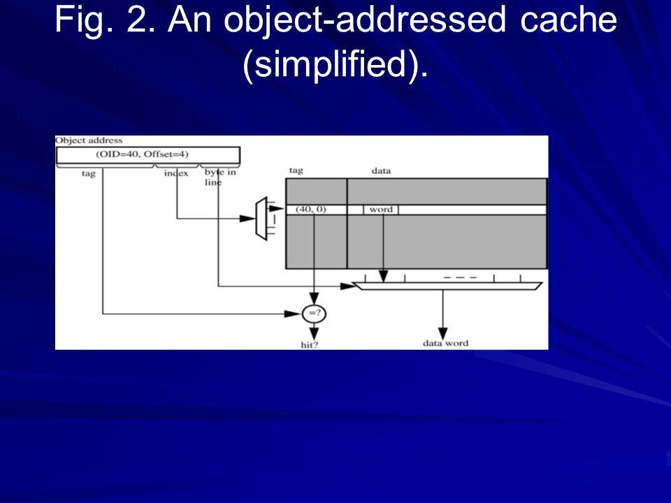 2.2. Encoding do endereço do objeto Um sistema executou exatamente como descrito acima teria a colocação pobre dos objetos dentro do cache. Os caches