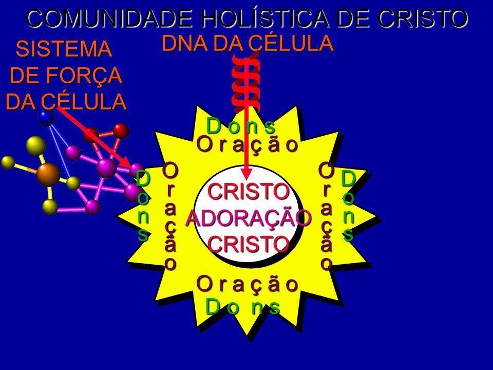 CRISTOADORAÇÃOCRISTO COMUNIDADE HOLÍSTICA DE CRISTO DNA DA CÉLULA SISTEMA DE FORÇA DA CÉLULA O r a ç ã o OraçãoOração