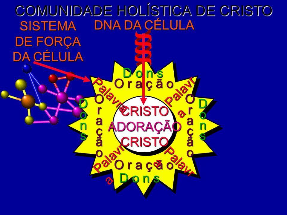 COMUNIDADE HOLÍSTICA DE CRISTO DNA DA CÉLULA SISTEMA DE FORÇA DA CÉLULA CRISTOADORAÇÃOCRISTO O r a ç ã o OraçãoOração D o n s DonsDons