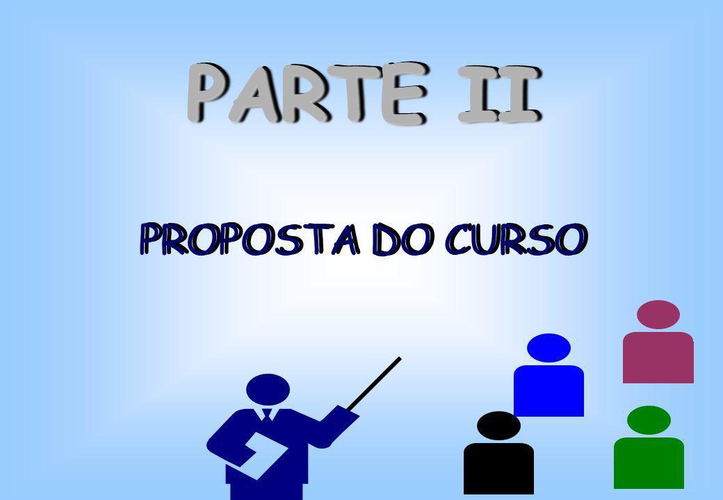 PARTE II PROPOSTA DO CURSO PARTE II PROPOSTA DO CURSO