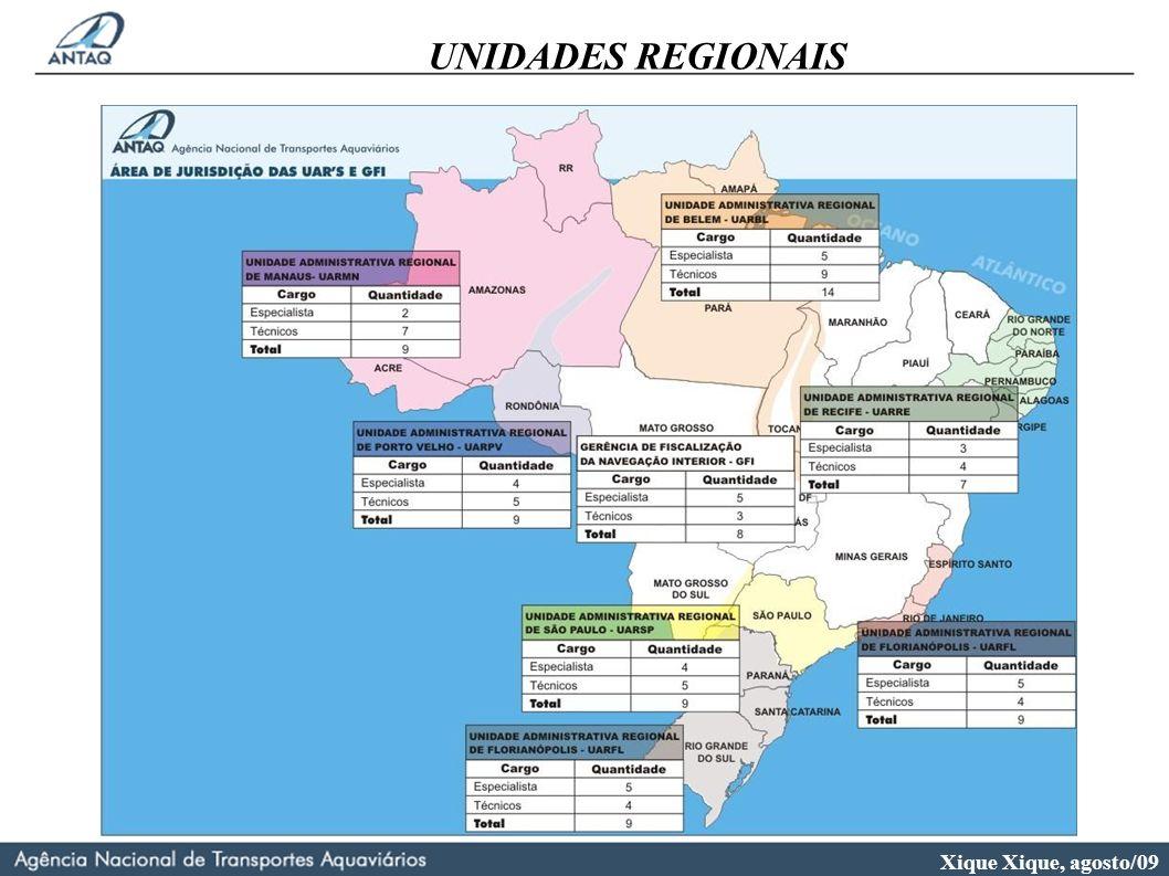 Xique Xique, agosto/09 UNIDADES REGIONAIS