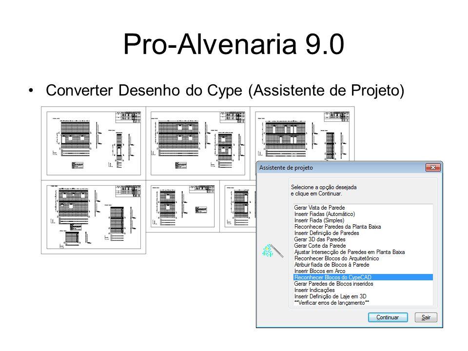 Pro-Elétrica 9.0 Possibilidade de associar as cargas de outro arquivo dwg; Inserção automática de tubulação entre tomadas pelo piso e pelas paredes;