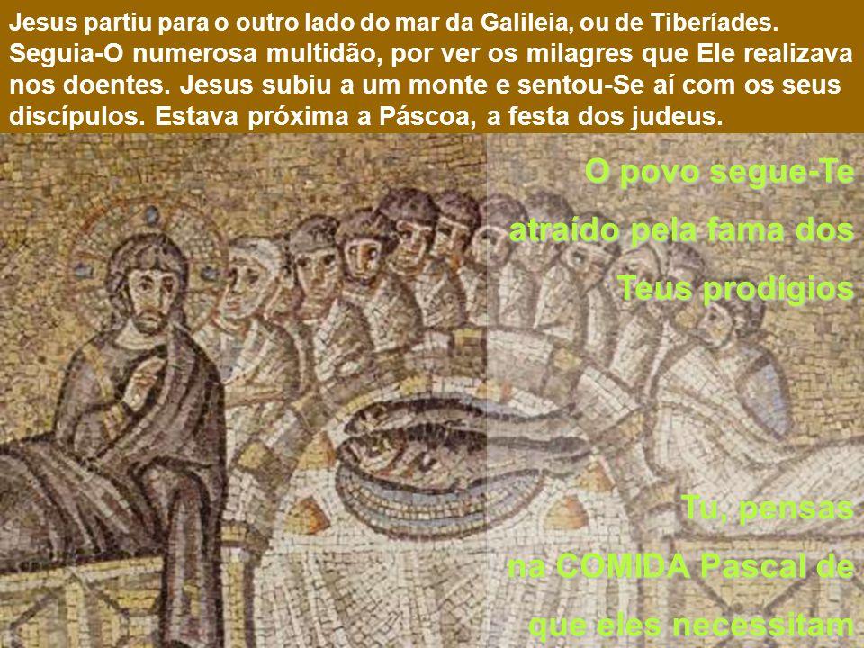 Jesus és o Alimento da HUMANIDADE Monte onde, a tradição, localiza a multiplicação dos pães