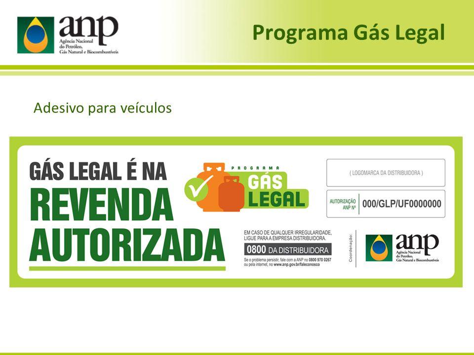 Programa Gás Legal Adesivo para veículos