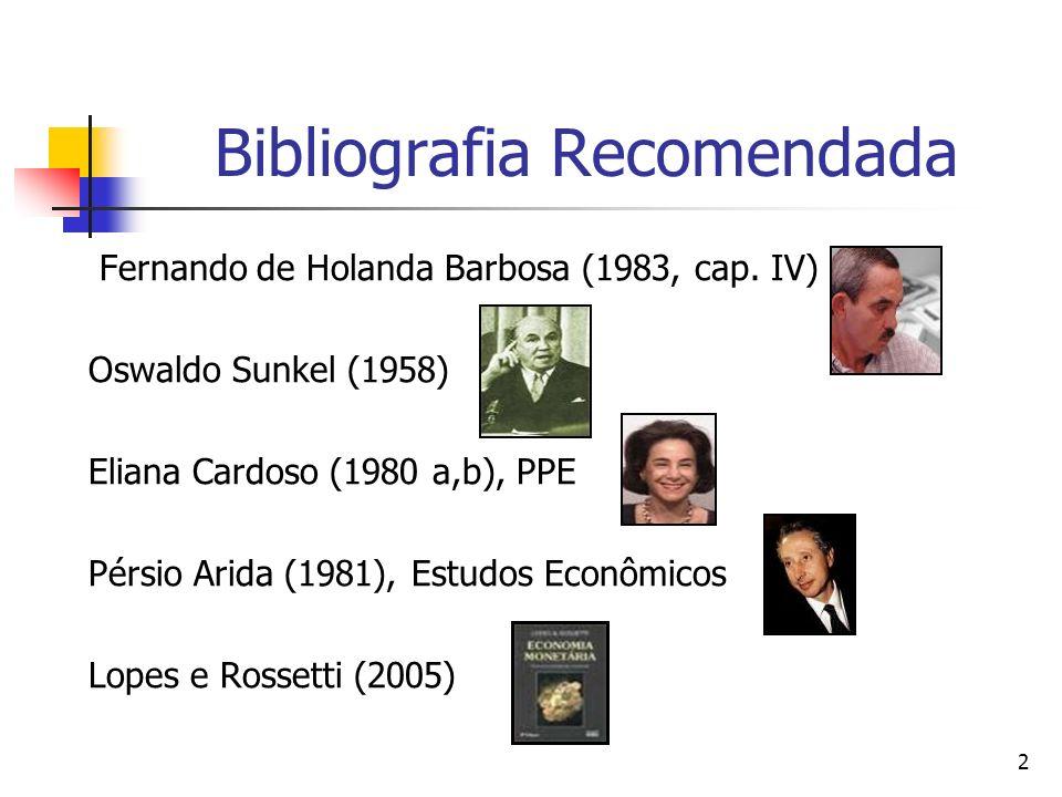 2 Bibliografia Recomendada Fernando de Holanda Barbosa (1983, cap.