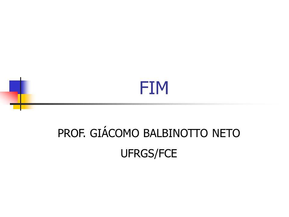FIM PROF. GIÁCOMO BALBINOTTO NETO UFRGS/FCE