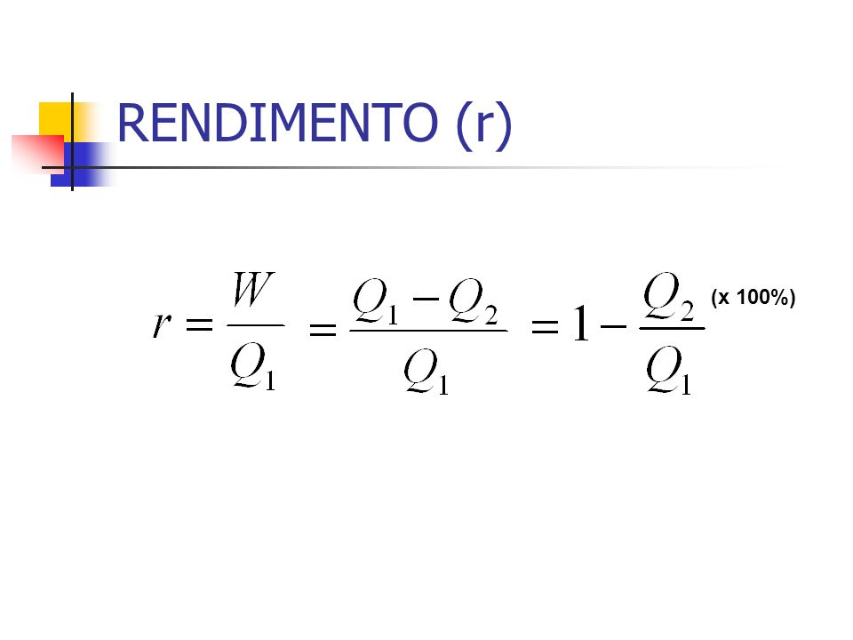RENDIMENTO (r) (x 100%)