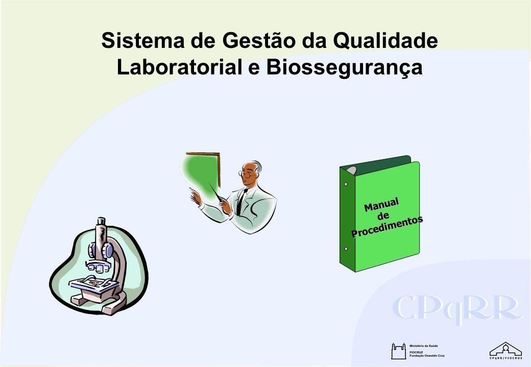Sistema de Gestão da Qualidade Laboratorial e Biossegurança ManualdeProcedimentos