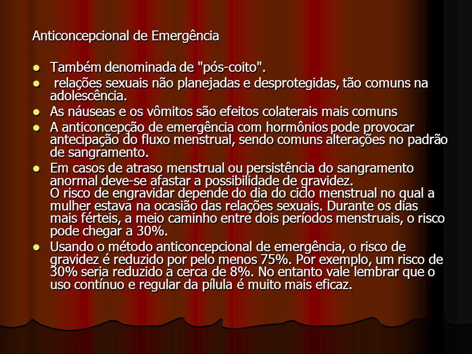 Anticoncepcional de Emergência Também denominada de