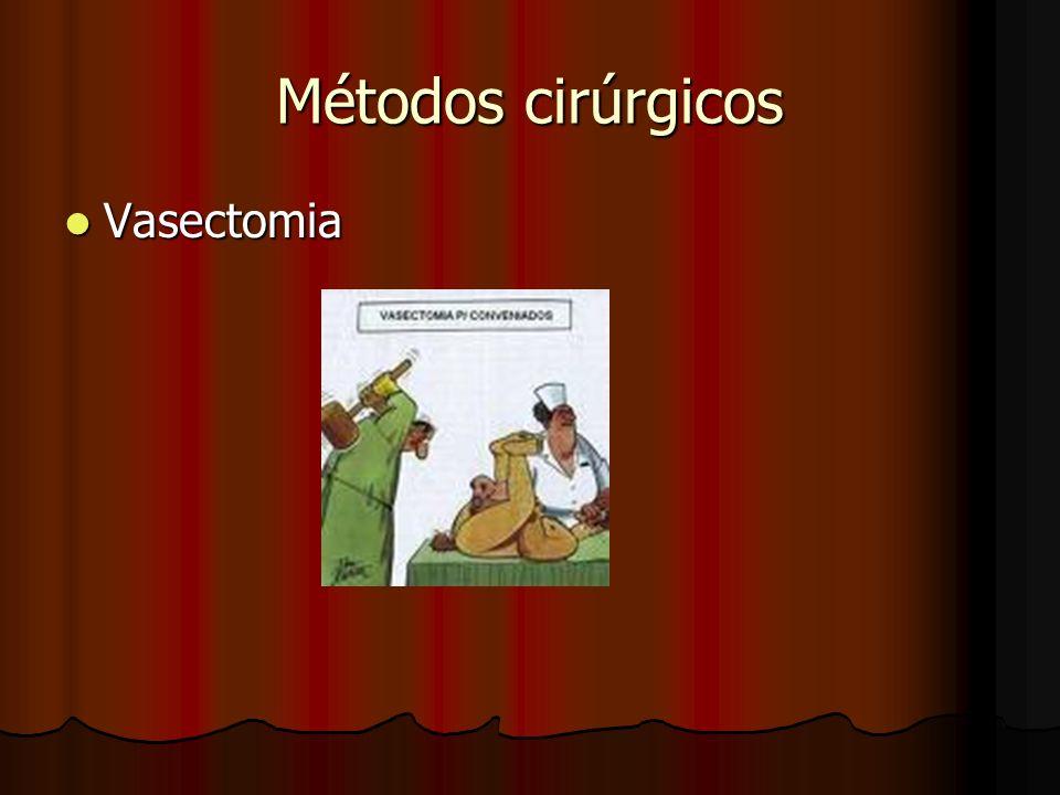 Métodos cirúrgicos Vasectomia Vasectomia
