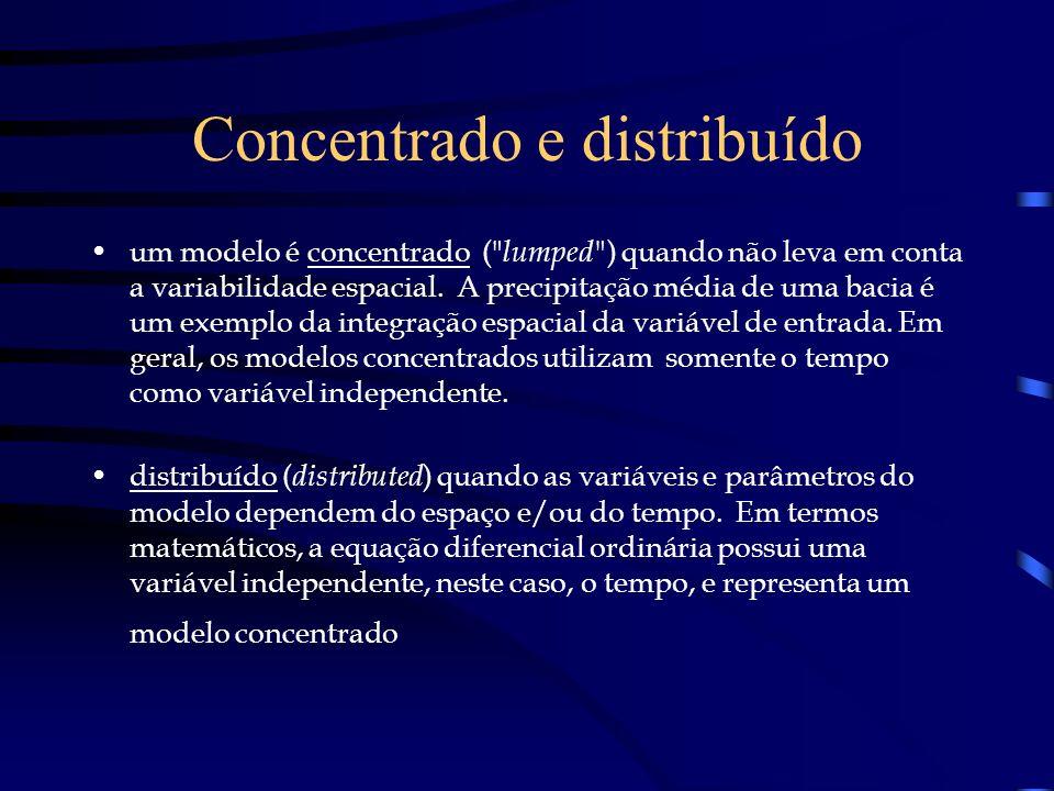 Concentrado e distribuído um modelo é concentrado (