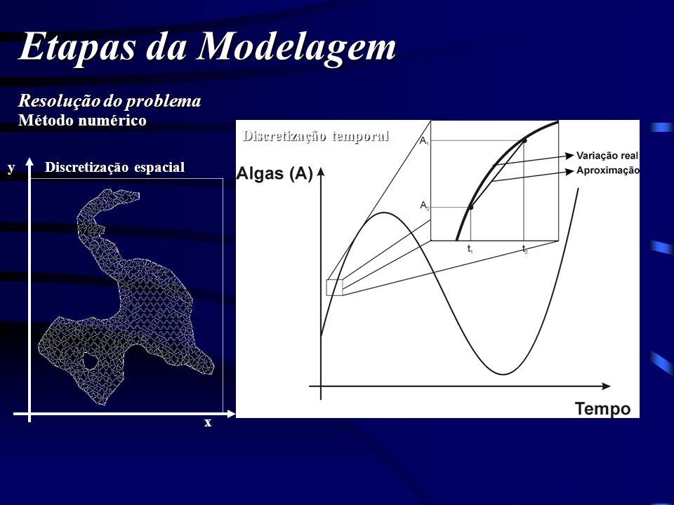 Etapas da Modelagem Resolução do problema Discretização temporal Discretização espacial Método numérico x y