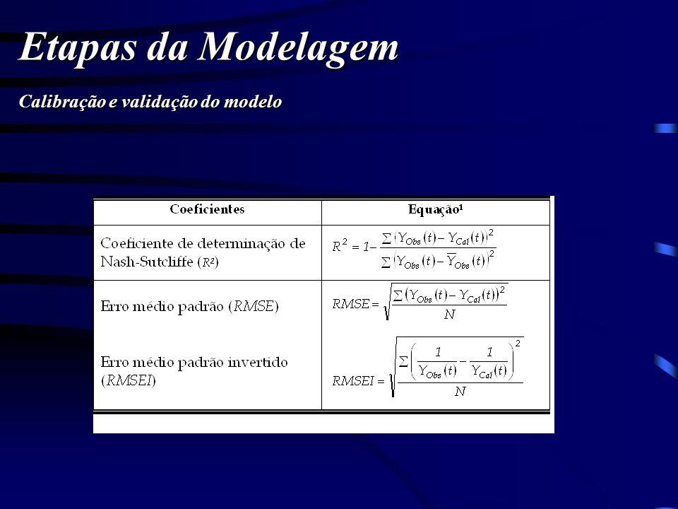 Etapas da Modelagem Calibração e validação do modelo