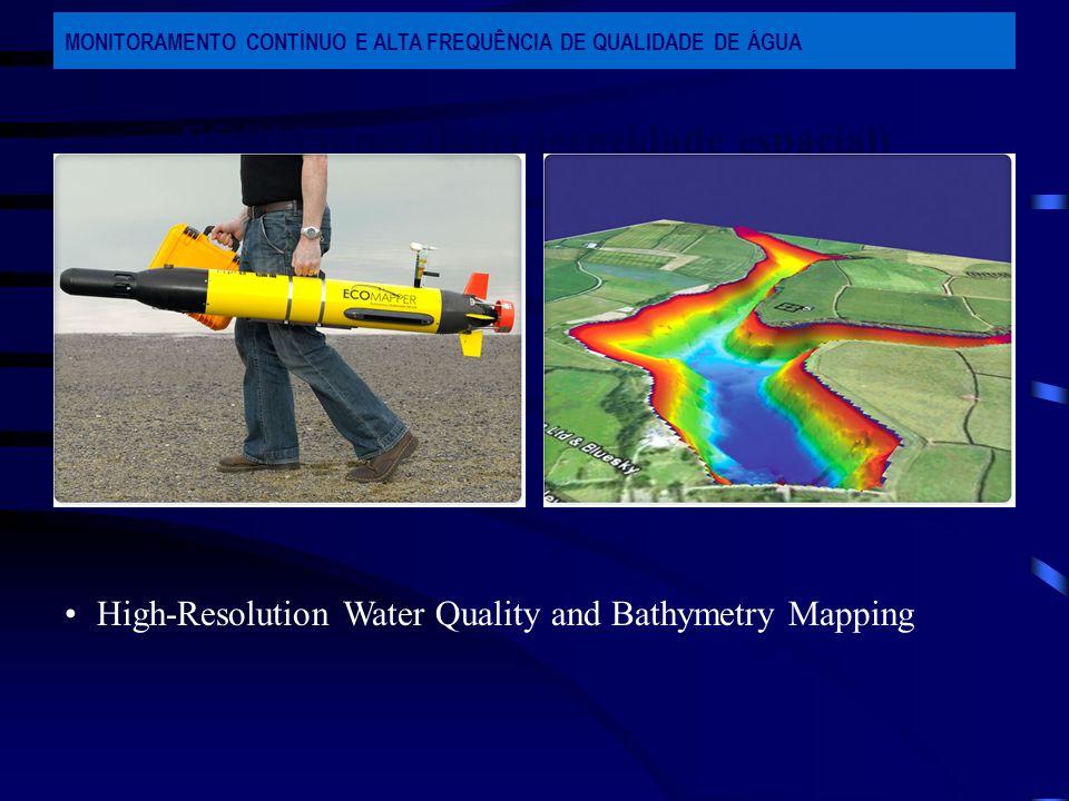 ECOMapper (heterogeneidade espacial) MONITORAMENTO CONTÍNUO E ALTA FREQUÊNCIA DE QUALIDADE DE ÁGUA High-Resolution Water Quality and Bathymetry Mappin