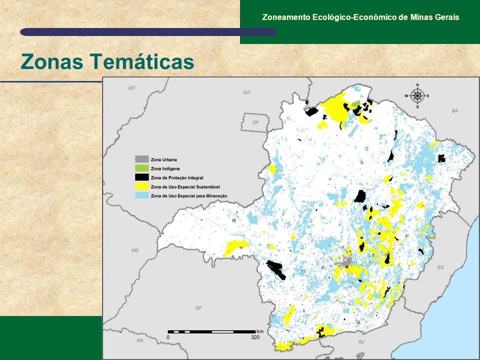 SEMAD – Secretaria de Estado de Meio Ambiente e Desenvolvimento Sustentável Zoneamento Ecológico-Econômico de Minas Gerais Zonas Temáticas
