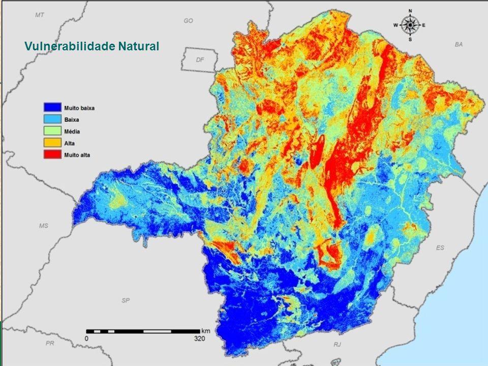 SEMAD – Secretaria de Estado de Meio Ambiente e Desenvolvimento Sustentável Zoneamento Ecológico-Econômico de Minas Gerais Cana-de-açúcar Vulnerabilid