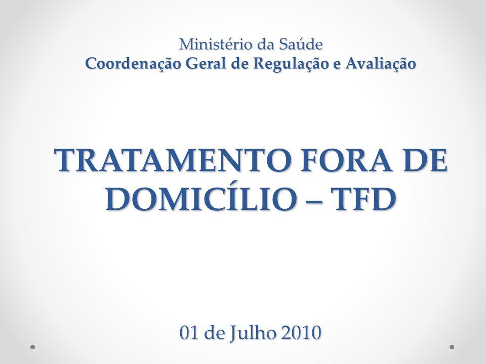 Tratamento Fora de Domicílio - TFD É um instrumento legal que visa garantir o deslocamento dos usuários do Sistema Único de Saúde – SUS para município ou estado de referência quando o município de origem não dispuser de tratamento necessário ao restabelecimento de sua saúde.