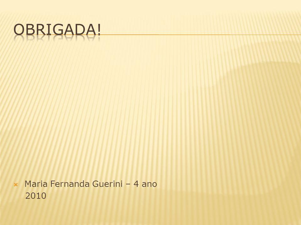 Maria Fernanda Guerini – 4 ano 2010