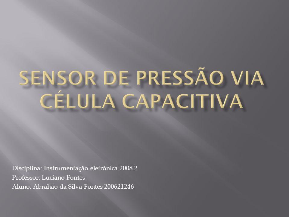 Disciplina: Instrumentação eletrônica 2008.2 Professor: Luciano Fontes Aluno: Abrahão da Silva Fontes 200621246