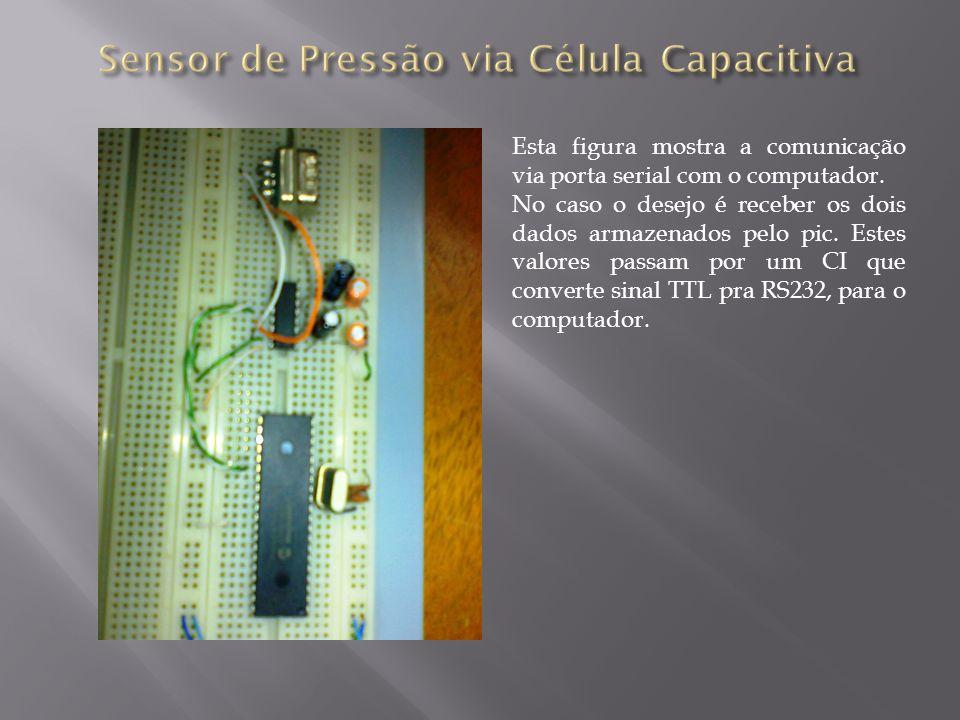 Esta figura mostra a comunicação via porta serial com o computador. No caso o desejo é receber os dois dados armazenados pelo pic. Estes valores passa